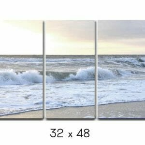 Beach Canvas Triptych Wall Art | Split Canvas Art | Ocean Wave Wall Art