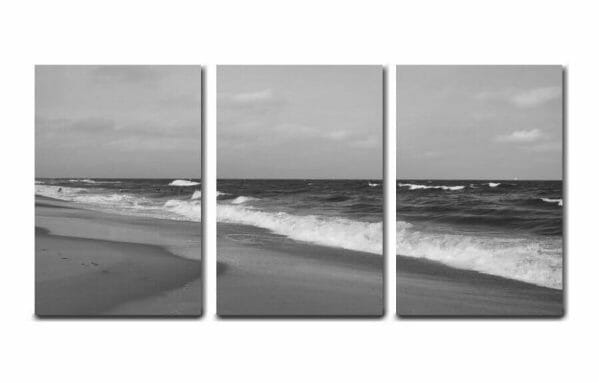3 Piece Ocean Beach Wave Wall Art