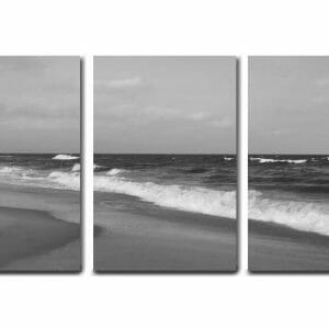 3 Piece Ocean Beach Wave Wall Art