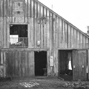 Black and White Country Barn Wall Art