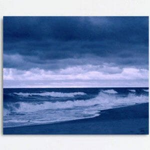 Navy Blue Ocean Clothes Wall Art | Coastal Art Decor | Virginia Beach Wall Art