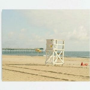 Lifeguard Chair Wall Art | Coastal Wall Art | Beach Wall Art
