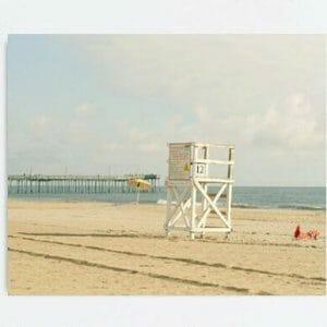 Lifeguard Chair Wall Art   Coastal Wall Art   Beach Wall Art