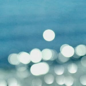 Ocean Sparkles Bokeh Wall Art Photo | Water Abstract Wall Decor