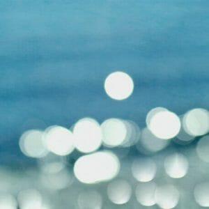 Ocean Sparkles Bokeh Wall Art Photo | Water Abstract Wall Decor