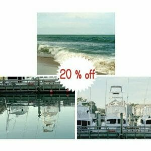 Teal Coastal Wall Art | Fishing Boat Wall Art | Boat Dock | 20% Off
