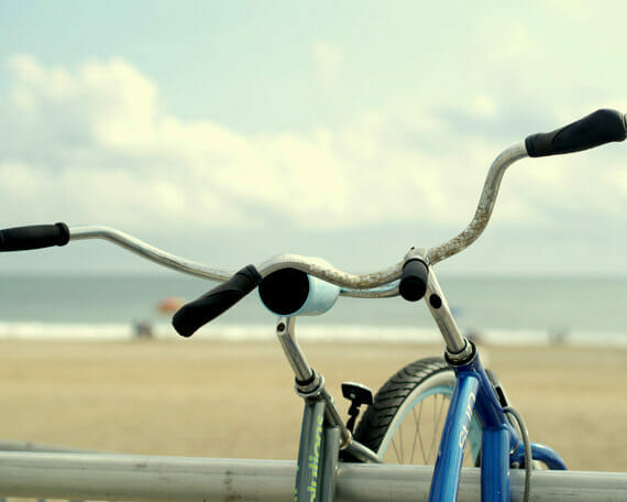 Beach Bikes Wall Art | Boho Chic Art Decor | Coastal Wall Art