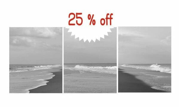 Black & White Coastal Nautical Decor | Vertical Grey Bathroom Wall Art