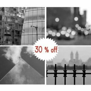 New York Abstract Photo Prints | Black and White | NYC Travel Wall Decor