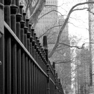 Black And White Fence Wall Art | Broadway Street Art Decor | New York Wall Art
