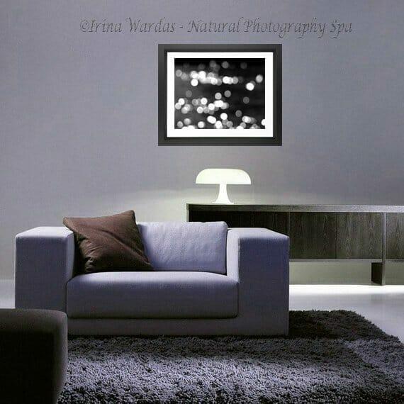 Abstract Sparkling Lights Wall Art   Light Bokeh Modern Art Decor