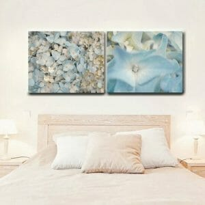 Blue Hydrangea Flower Wall Decor Set