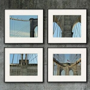 Brooklyn Bridge Wall Art Set of 4