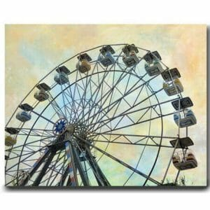 Ferris Wheel Wall Decor | Carnival Wall Art | Nursery Canvas Wall Art