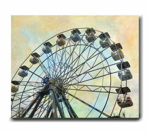 Ferris Wheel Wall Decor | Carnival Wall Art | Nursery Canvas Wall Art