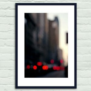 NYC Abstract Wall Art | Manhattan Traffic | Bokeh Blur Photography