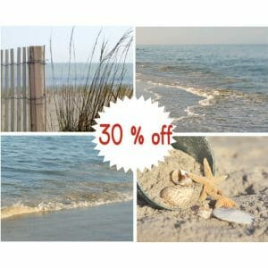 Coastal Wall Decor | Nautical Beach Photography | Set of 4 Beach Prints