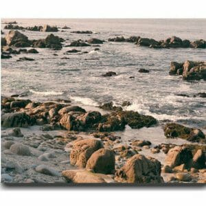 California Rocky Beach Wall Art | Nautical Art Decor | Monterey Bay Wall Art