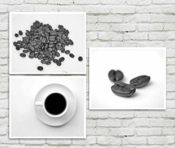 Coffee Beant and Coffee Mug Wall art set of 3