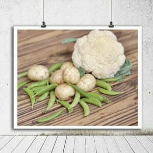 Rustic Vegetables Wall Art