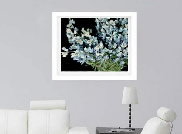 blue floral wall art