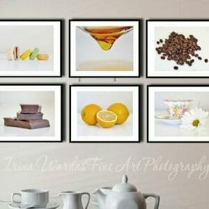 6 Piece Kitchen Food Wall Art Set | Modern Kitchen Wall Art Decor