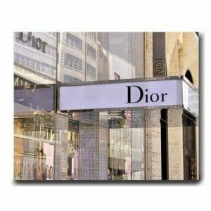 Dior Store Sign Wall Decor | Fashion Canvas Wall Art | Chic Bedroom Decor