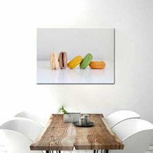 French Macaron Wall Art | Dessert Food Wall Art | Colorful Wall Decor