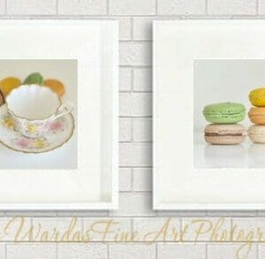 Food Wall Art Photography | French Macaron Wall Art | Kitchen Wall Decor
