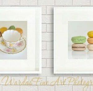 Food Wall Art Photography | French Macaron Wall Art | Kitchen Wall Decor