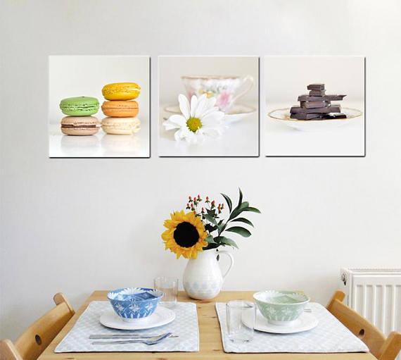 Modern Kitchen Wall Art | Food Wall Art | Coffee Tea Chocolate Wall Art
