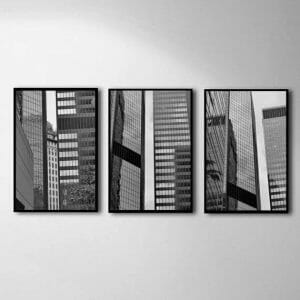 Black and White Pittsburgh City Wall Decor