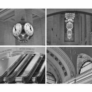 B& W Grand Central Station Wall Art