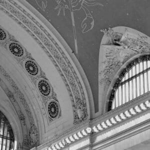 Grand Central Station Travel Wall Art | Black & White NYC Architecture