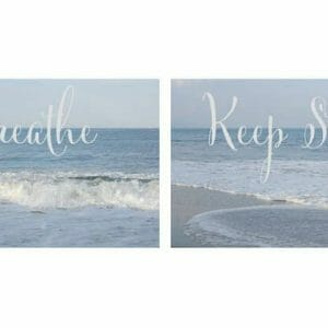 Inspirational Ocean Wall Art | Set of 2 | Motivational Wall Art Decor
