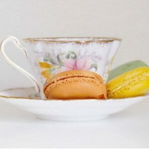 Tea Cup Wall Art | Dessert Wall Art | Macaron Wall Art | Kitchen Wall Art