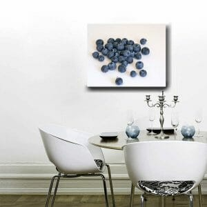 Kitchen Wall Art | Blueberries Canvas | Dining Room Wall Decor