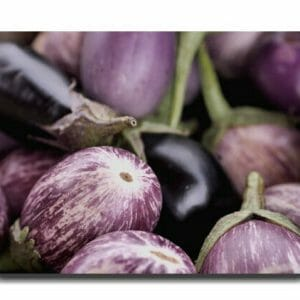 Purple Eggplant Wall Art | Kitchen Art Decor | Farmers Market Wall Art