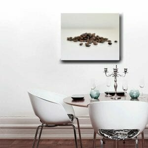Coffee Bean Wall Art | Modern Kitchen Canvas Wrap | Food Wall Decor