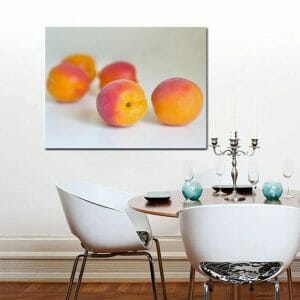 Apricot Fruit Wall Art | Canvas Wall Decor | Large Kitchen Wall Art