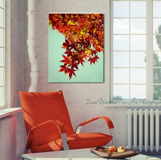 Red Maple Tree Leaves Wall Art