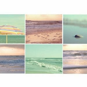 Beach Scene Wall Art Set of 6