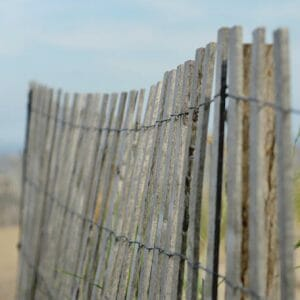 Large Beach Grey Fence Wall Art | Coastal Wall Decor| Seashore Art