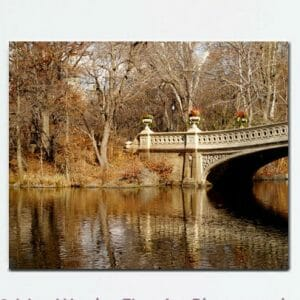 Fall Central Park Wall Art | Bow Bridge Wall Art | Fall Wall Decor