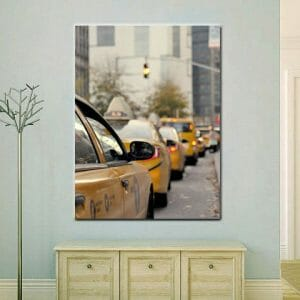 Taxi Cab Wall Art | Manhattan Street Wall Art | NYC Travel Wall Decor