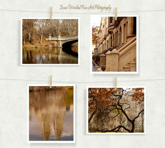 Central Park in the Fall Wall Art | Upper East Side | Manhattan Wall Decor