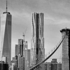B& W Manhattan Skyline Wall Art
