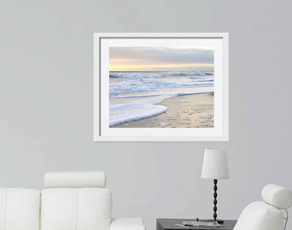 Silver Sunset Wall Art | Peaceful Art Decor | Ocean Wall Art