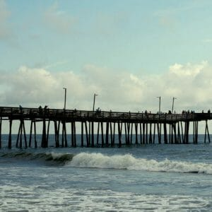 Beach Pier Wall Art | Nautical Art Decor | Virginia Beach Wall Art