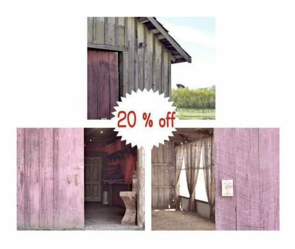 Pink Barn Wall Art | Farmhouse Wall Decor | Shabby Chic Wall Art